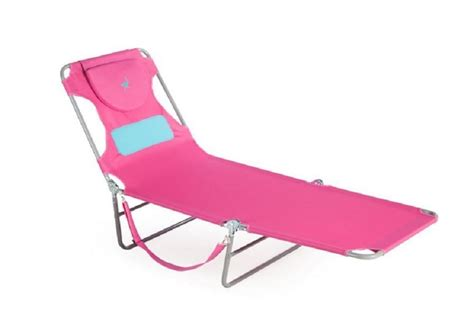 ladies chaise lounge pink ostrich comfort lounger folding
