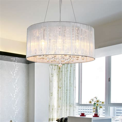 l shade ceiling fixture drum shade crystal ceiling chandelier pendant light