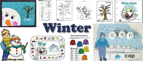 new winter theme kidssoup 354 | winter activities crafts printables 0