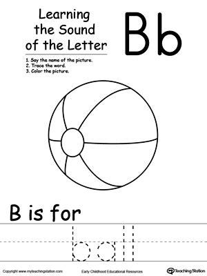learning beginning letter sound  myteachingstationcom