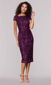 Eggplant Purple Short Wedding-Guest Dress - PromGirl