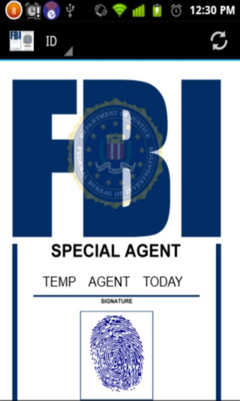 fbi id badge amazoncouk appstore  android