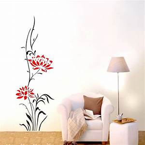 large lotus flower wall stickers removable decals home With large wall decals