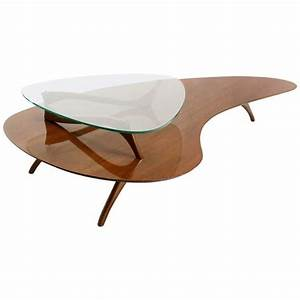 mid century modern kidney organic shape walnut coffee With unusual shaped coffee tables