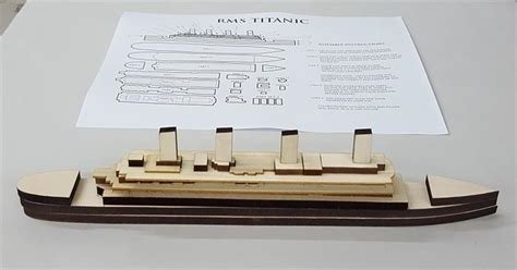 Titanic Boat Parts by Rms Titanic Wooden Craft Kit