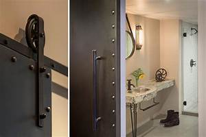 creative et originale salle de bain au design industriel With porte de douche coulissante avec vasque originale salle de bain