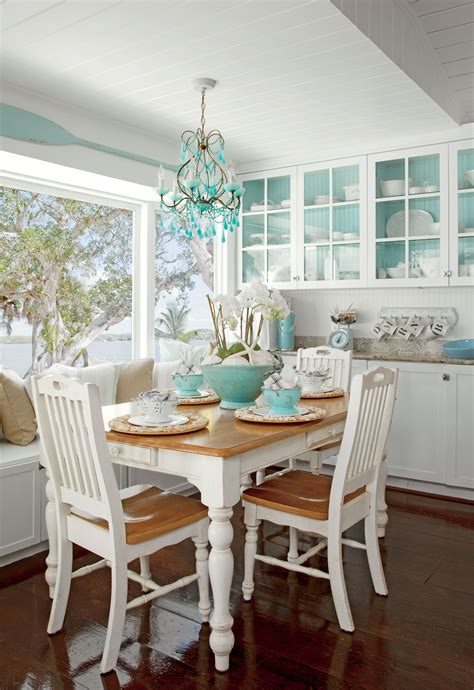 white dining room coastal decorations beach house