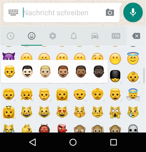 emoji update for android whatsapp f 252 r android erh 228 lt emojis in verschiedenen hautfarben