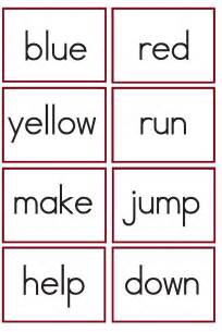 kindergarten worksheets kindergarten sight words flash cards