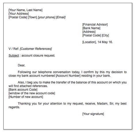 account closure request letter httpexampleresumecv