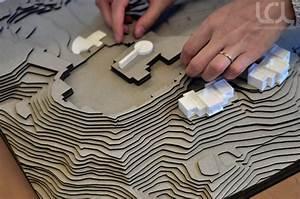 CNC Laser Cut Architectural Terrain Models - Laser Cutting
