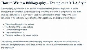 mla format annotated bibliography how to write a bibliography examples in mla style a