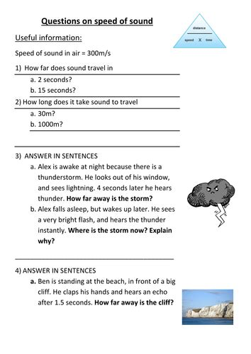 speed of light worksheet worksheet on speed of sound by slimchandi teaching resources