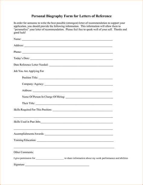 bipgraphy template 3 personal biography template authorizationletters org