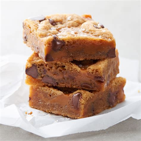 salted caramel browned butter chocolate chip bars land