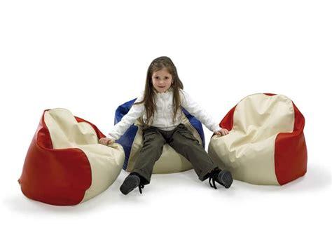 Poltrona Sacco Per Bambini, Ricoperta In Similpelle, Per