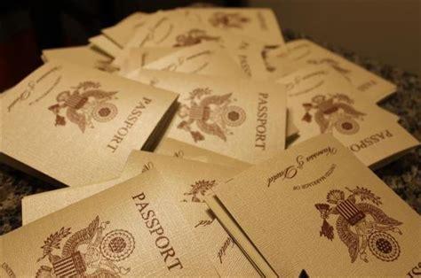 vanessas diy passport destination wedding invitations