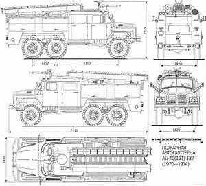 ZIL-131 AS-40 Blueprint - Download free blueprint for 3D