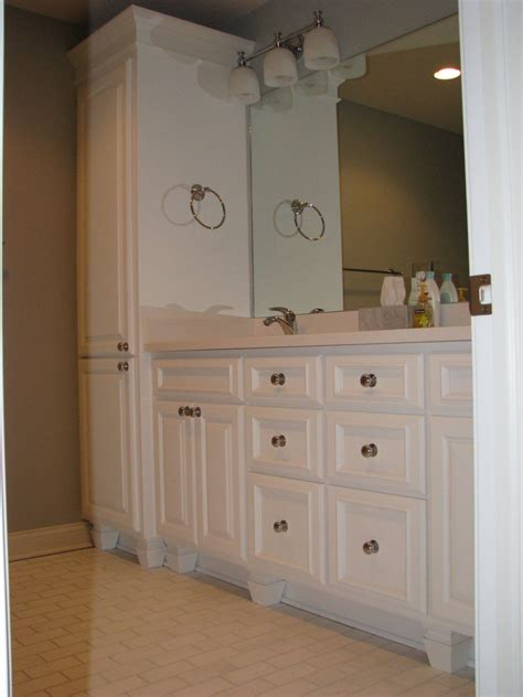 Bathroom Cabinet With by Appealing Bathroom Linen Cabinets And Vanities Home Decor