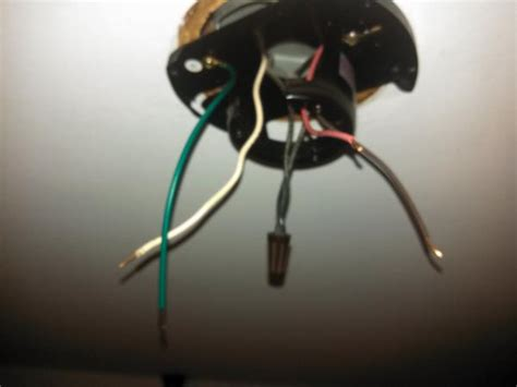 ceiling fan install strange wire colors doityourself