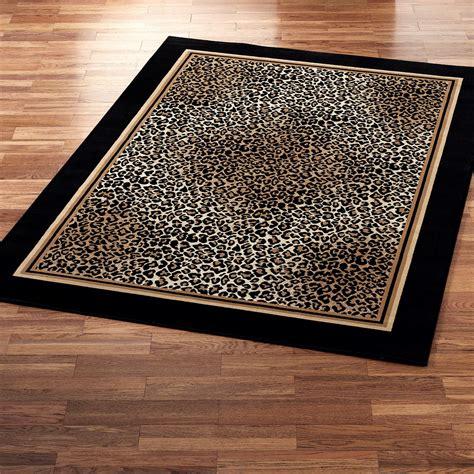 decorating stunning home flooring  cheetah rug