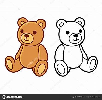 Teddy Bear Drawing Drawings Ours Peluche Clip