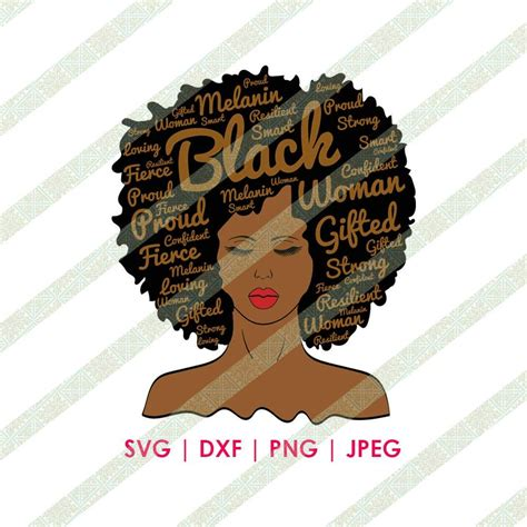 You can copy, modify, distribute and perform the work, even for commercial purposes, all. Pin on African American SVG Download Files for Cricut or ...