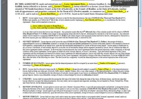 Give You A Blank Home Rental Lease Agreement Template By