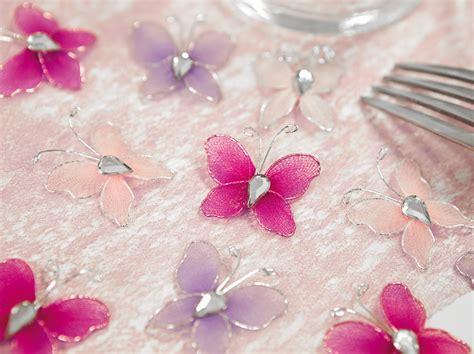 lot de 10 petits papillons strass d 233 coration de table bapteme
