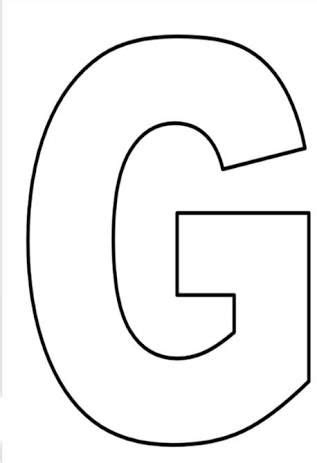 resultado de imagem para molde da letra g diy letras grandes para imprimir letras imprimir