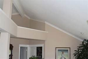 Vaulted ceiling ledge decorating bedroom contemporary with