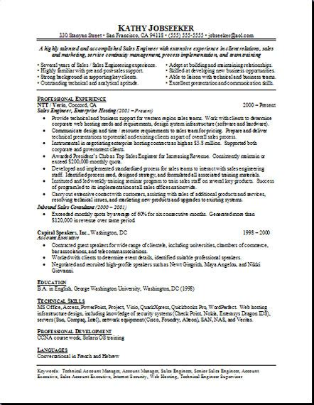 free sle resume templates exle free resumes