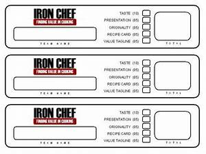 resource iron chef activity young women pinterest With chef template resource