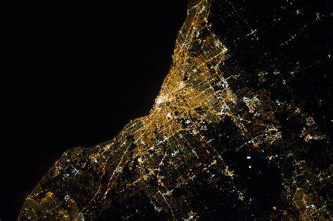 nasa night view  cleveland