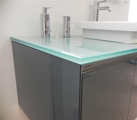 Modern Bathroom Counter by Bathroom Sink Glass Counter Modern Vanity Tops And