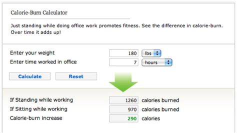 how many calories would you burn if you switched to a