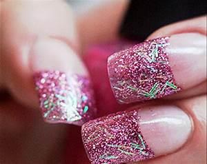 Pink glitter acrylic nails   Nails Design Ideas   Pinterest