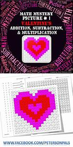 Valentine's Math Mystery Picture #1 ~ Addition ...