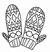 Coloring Mittens Mitten Scarf Brother Gloves Drawing Pattern Winter Printable Colorings Clipartmag Getcolorings Colorluna sketch template