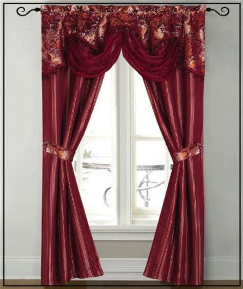 dainty home patine window panel  attached valance