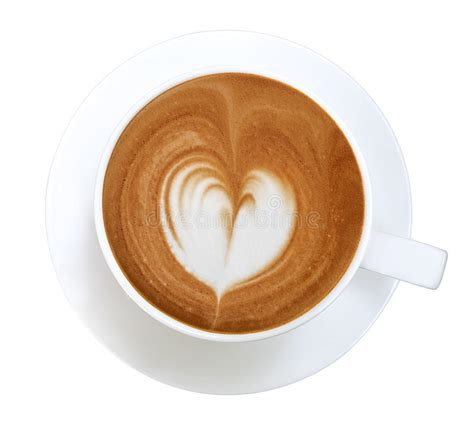 So we're going to start off by doing the heart. Top View Of Hot Coffee Latte Art Heart Shape Foam Isolated On White Background Stock Photo ...