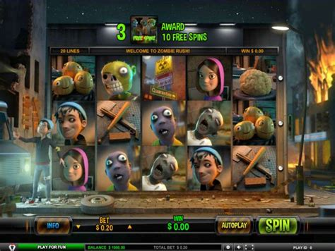 play zombie rush video slot  leander games