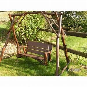 Balancelle De Jardin En Bois : balancelle de jardin en bois topiwall ~ Teatrodelosmanantiales.com Idées de Décoration