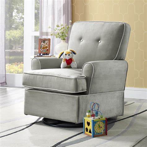 dorel living baby relax tinsley swivel glider gray
