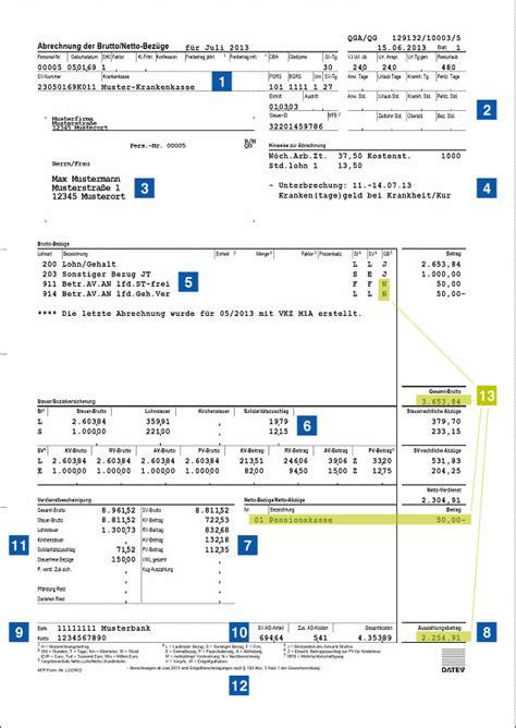 gehaltsabrechnung richtig lesen versicherungskammer bayern