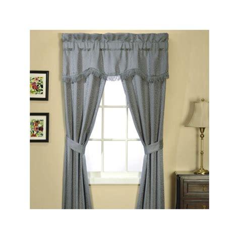 classic scroll  piece window set wedgewood curtain