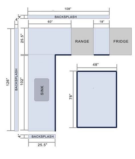 How Do You Measure A Kitchen Sink by How To Measure A Countertop How To Figure Square Footage