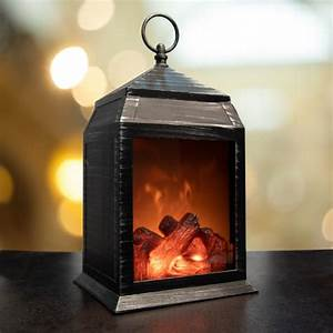 Vintage, Led, Fireplace, Lantern, Outdoor, Realistic