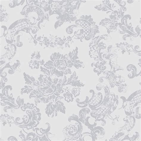 coloroll vintage lace wallpaper dove grey