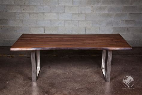 live edge black walnut dining table diverso live edge black walnut dining table bois
